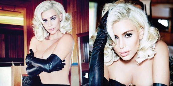 Kim Kardashian presume look a lo Marilyn Monroe