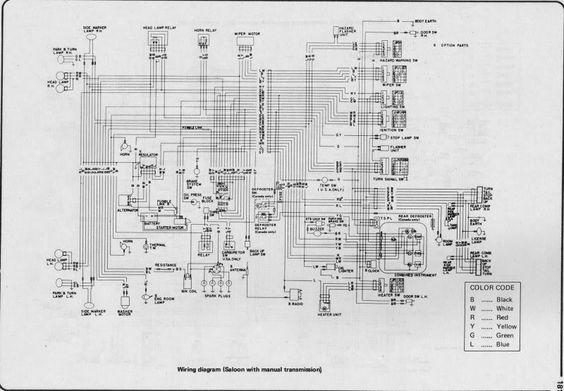 Wiring diagram for nissan 1400 bakkie #1 | nissan | Pinterest ...