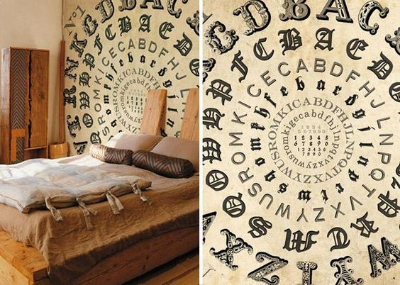 Letterpress and Typography Wallpaper Designs