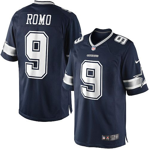 34f5c38b619 ... on sale Mens cheap Nike 9 Tony Romo Limited Navy Blue Throwback  Alternate NFL Dallas Cowboys Jersey ...