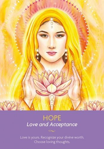 Hope is the energy your angels are flowing your way to support you now. Loving and accepting yourself is how you tune into the power of this blessing. #angelcardreading: