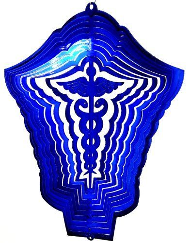 "$42.95 Stainless Steel Wind Spinner, 12"" Medical Symbol, Blue Starlight by Dakota, http://www.amazon.com/dp/B008Y3YVEQ/ref=cm_sw_r_pi_dp_YJmWqb00B0PWZ"