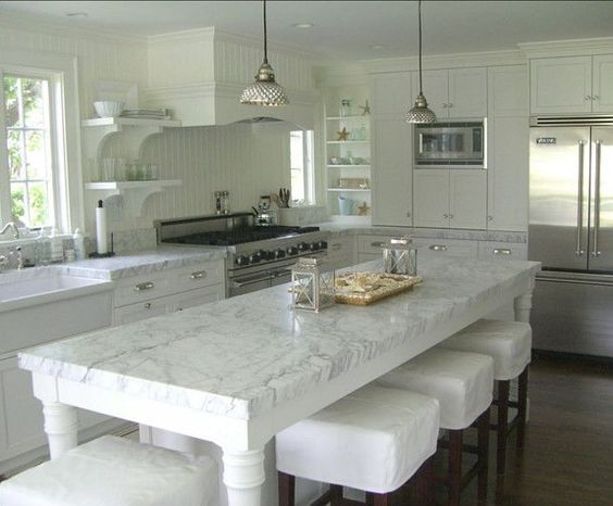 Our Dream Carrara Marble Kitchens | Pumpernickel & Rye | from Christopher Michael Lostegaard Mohs