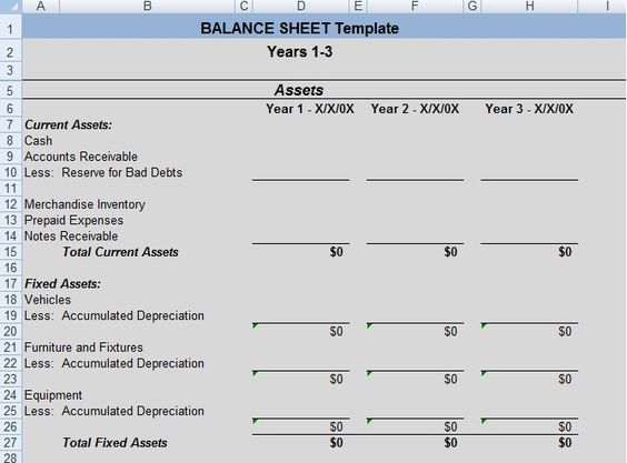 Simple Personal Finance Balance Sheet Template ExcelDox Excel - equipment inventory template