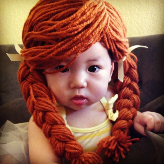 Lil Miss Ginger! yarn wig