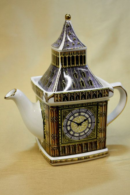 James Sadler Teapots - Big Ben Monument The worlds largest four faced chiming clock, Big Ben has been standing in London at the Palace of Westminster since 1859, and had just celebrated it's 150th anniversary in May of 2009