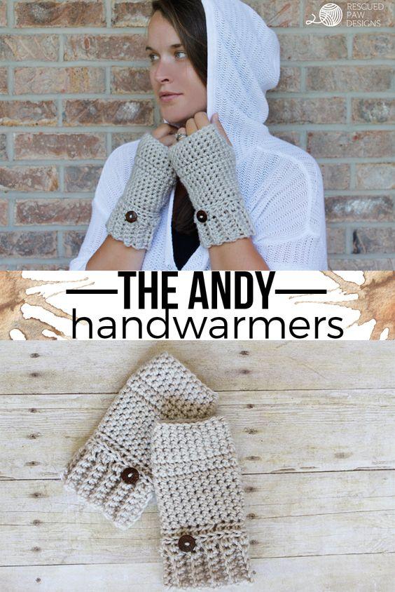 Crochet Gloves || FREE PATTERN || Rescued Paw Designs #crochet #lionbrandyarn…: