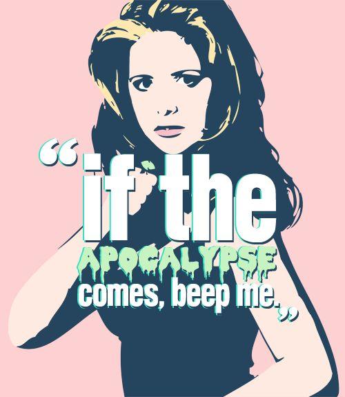 """If the apocalypse comes, beep me"""