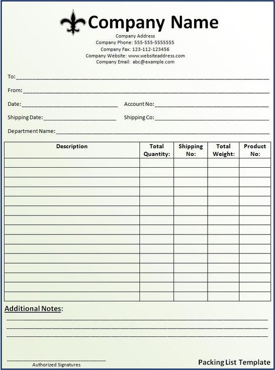 Company invoice template includes the name of your company - submittal transmittal form