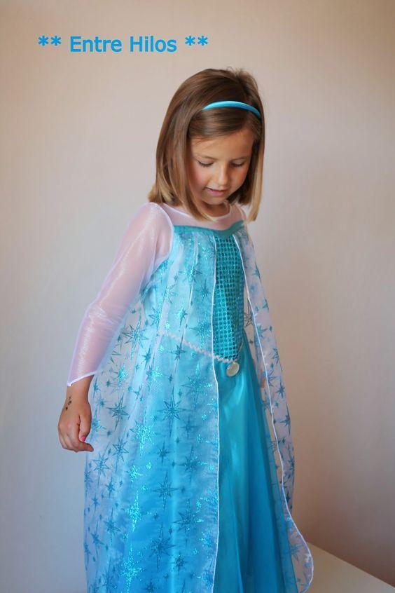 Entre Hilos: Diy disfraz de Elsa de FROZEN