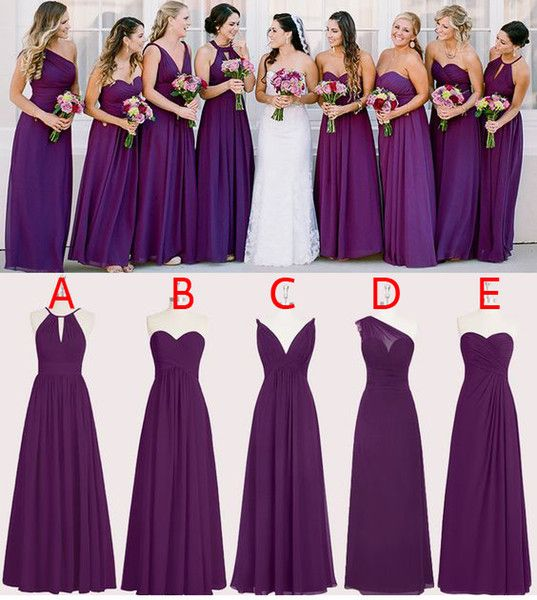 Pin By Rachelle On Bridesmaids Purple Bridesmaid Dresses