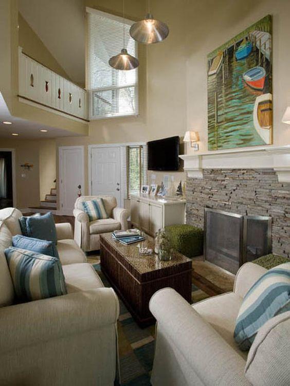 Beautiful beach house.: Interior Design, Dining Room, House Ideas, Living Room Ideas, Coastal Style, Room Decorating Ideas, Artwork Designers, Coastal Living Rooms