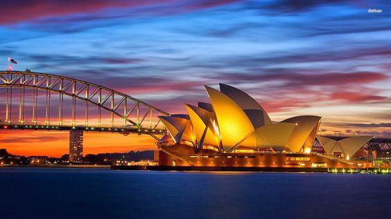 Imagenes para fondo de pantalla de la casa de la opera de Sidney