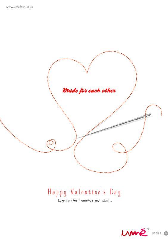 Happy Valentine from umé to s, m, l, xl, xll...