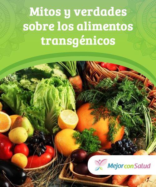 Mitos Y Verdades Sobre Los Alimentos Transgenicos Con Imagenes Alimento Transgenico Alimentos Recetas Saludables