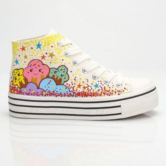 Cute sweet stars rainbow shoes Cute Kawaii Harajuku Fashion Clothing & Accessories Website. Sponsorship Review & Affiliate Program opening!