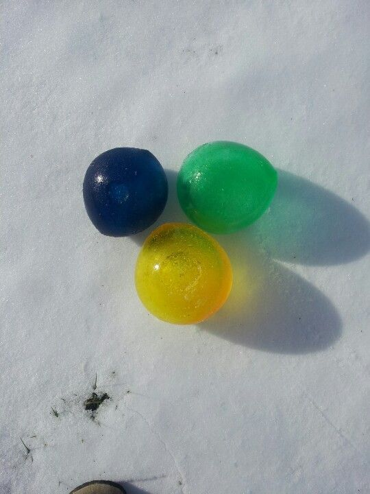 My attempt of balloon marbles.