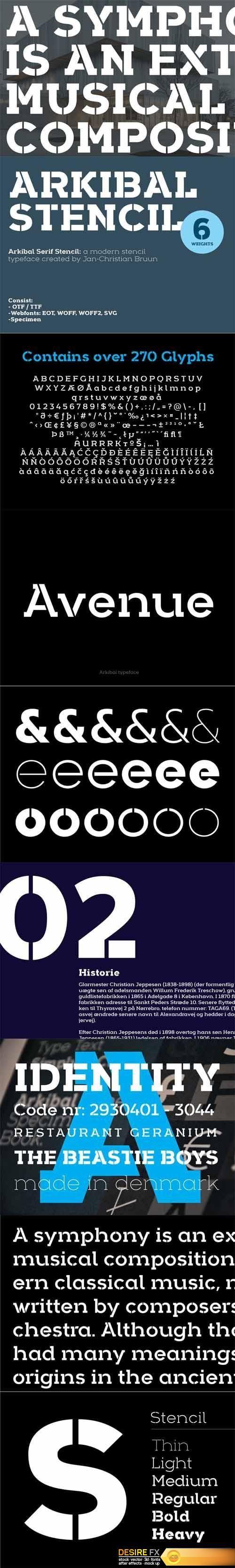 http://www.desirefx.me/arkibal-stencil-serif-font/