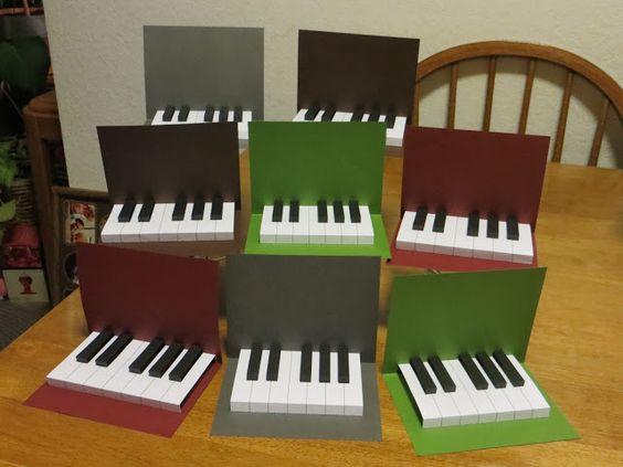 Jelias Music Playground: Easy Piano Pop-Up Card Printable