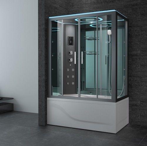 Essex Left Luxury Steam Shower Shower Locker Storage