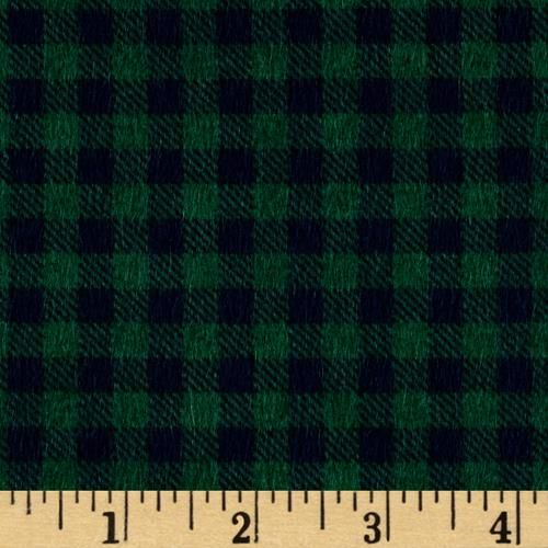 Mountain Lodge Flannel Buffalo Plaid Green Navy Style Rustic