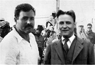 Ernest Hemingway and F. Scott Fitzgerald.