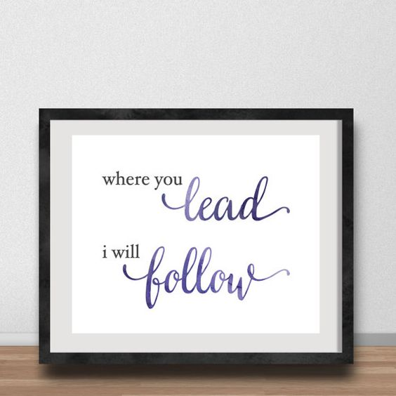 Where You Lead I Will Follow Gilmore Girls 8x10 by GenuineDesignCo