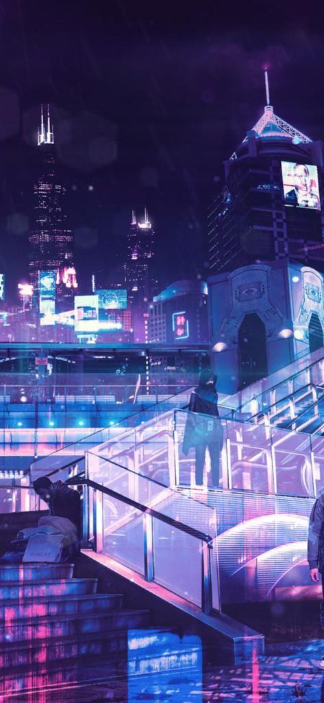 4k Iphone X Wallpaper Cyberpunk Neon City S0 11252436 4k Hd