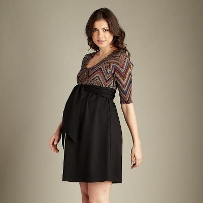 MA Missoni Print Front Tie Mini Dress available at Baby Bump Maternity 504.304.2737 call us and we'll ship :)