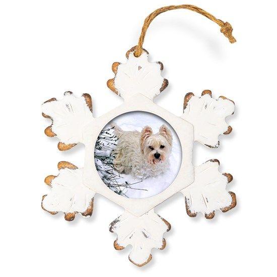 Snow Westie Rustic Snowflake Ornament By Denisebruchmanphotography Westies Snowflake Ornaments Snowflakes