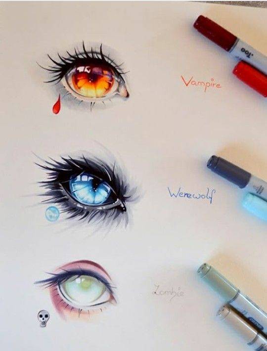 A Colored Drawing Of Eyes That Belongs To Types Of Mythological Creatures Eye Drawing Eye Art Anime Eye Drawing