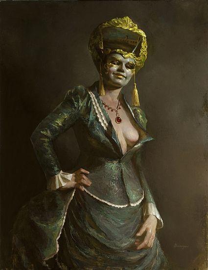 """""""La Dama Misteriosa""""  by Kyla Shackelford  Oil36 x 28"""