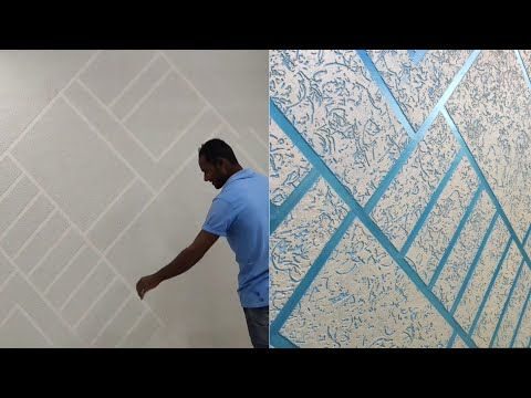 Wall Texture Design Masking Tape And Rustic Special Effect Youtube Wall Texture Design Texture Design Wall Paint Designs