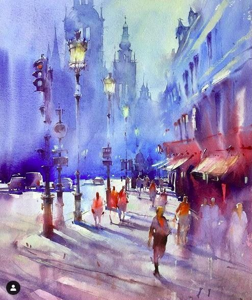 Watercolor By Viktoria Prischedko Watercolor Paintings National