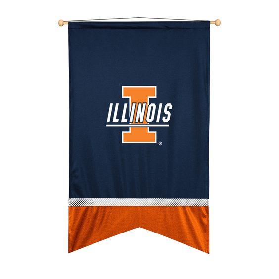 ATHLEZ - Illinois Fighting Illini Wall flag
