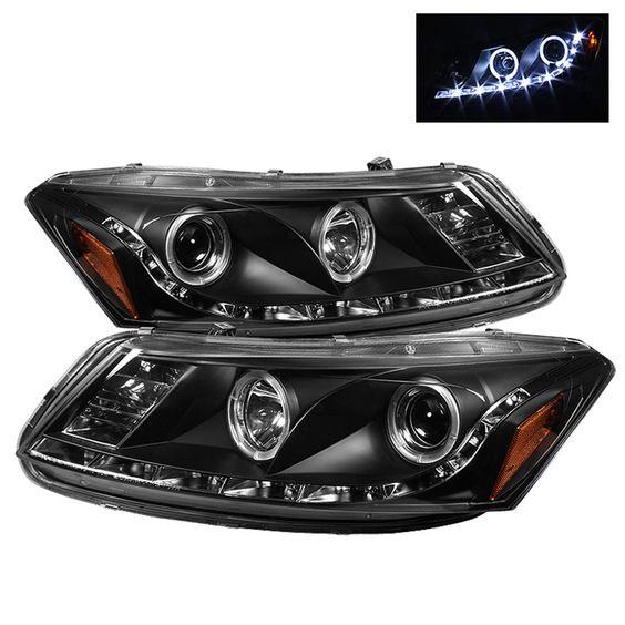 2008-2012 Honda Accord Black Projector Headlights
