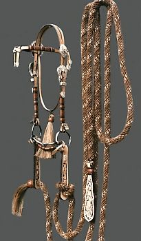 Spanish Brow Headstall with braided buttons - Collector Set #5