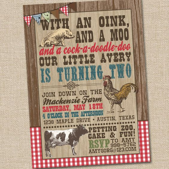 Old MacDonald On The Farm Vintage Petting Zoo Printable