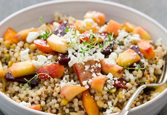 Top 10 Pinterest Pins This Week  . Peach and Roasted Vegetable Salad    Etsy pinned this delicious looking peach and vegetable salad and got pinners ready for lunchtime.