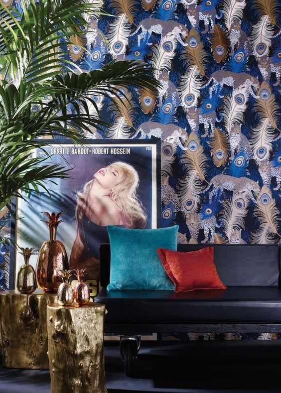Blue Leopardo Wallpaper - Wallpaper - Matthew Williamson