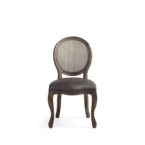 Margot 23 Rattan Back Dining Side Chair In Cinder