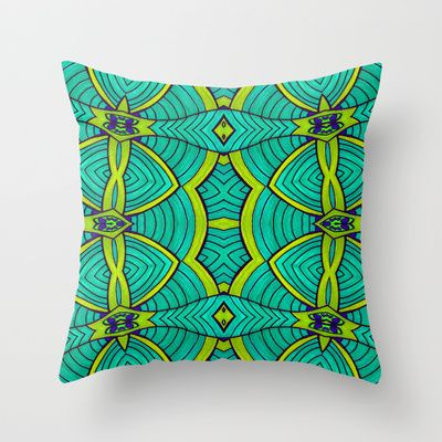 Poseidon Throw Pillow by Kimberly McGuiness - $20.00 Free shipping thru 2/23/2014!