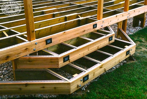 Best Pressure Treated 4X4 Pier Foundation Deck Staircase 400 x 300