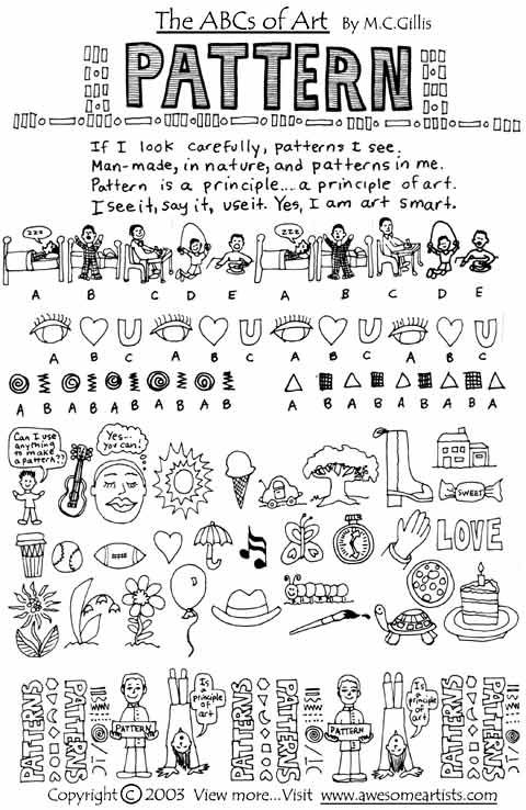 Printable Art Materials- poem on pattern