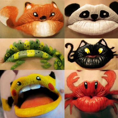 Lip art! This could be fun! Face painting at the library on Saturday, July 7, 2012 from 11 a.m. to  2 p.m. for kids! Free! :)