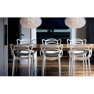 Masters Chair Kartell Replica Philippe Starck Kartell Diiiz In 2020 Masters Chair White Dining Room Chairs Eames Dining Chair