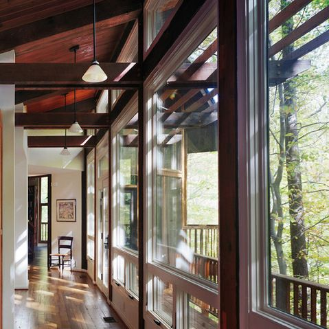 Addition to a Woodland Home | Barnes Vanze Architects, Inc. | original house designed by a student of Frank Lloyd Wright | exquisite lines and proportion