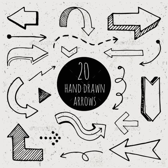 Hand Drawn Arrows Vector EPS. Download here: https://graphicriver.net/item/hand-drawn-arrows/11246836?ref=ksioks