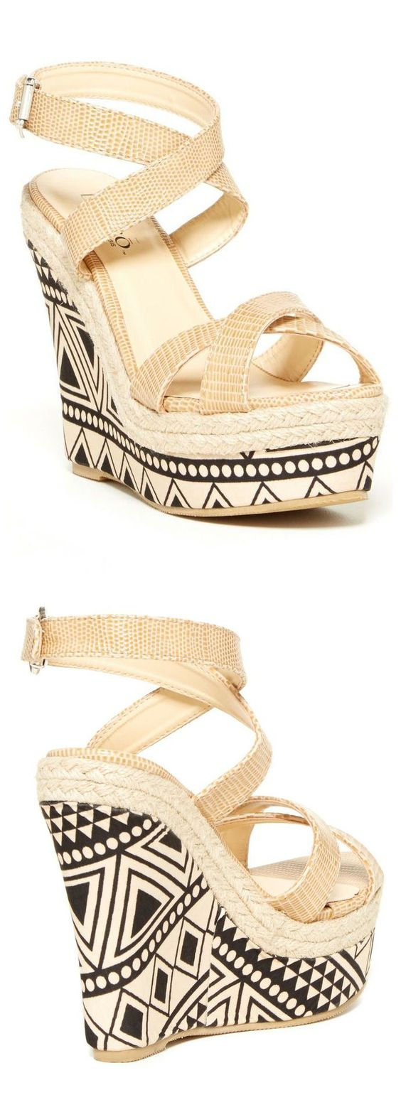 Tribal Wedge Sandals