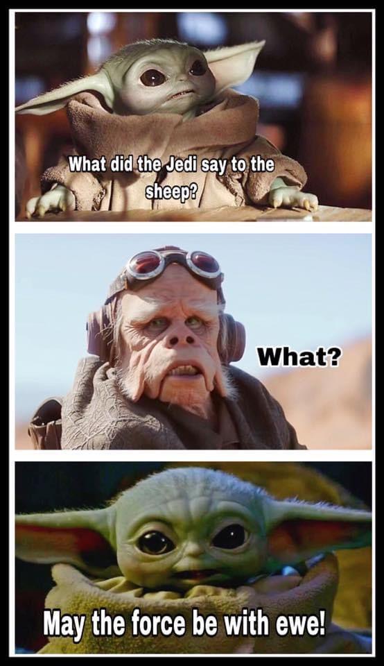Baby Yoda Yoda Meme Star Wars Memes Corny Jokes